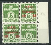 Danmark - AFA 245x m/overtryk postfrisk 4-blok