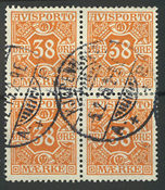 Danmark - AFA 18 stemplet 4-blok
