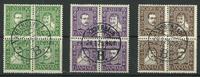Danmark - AFA 132-143 stemplet 4-blok sæt