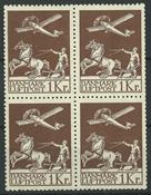 Danmark - AFA 182+182x postfrisk 4-blok