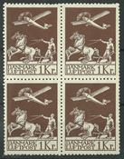 Danmark - AFA 182+182x i 4-blok ustemplet