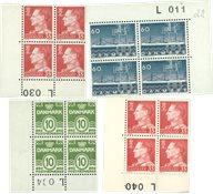 Danemark - Lot avec blocs marginaux