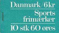 Danmark 1972 - hæfte Sport 60 øre