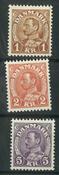 Danmark - AFA 209-213 postfrisk