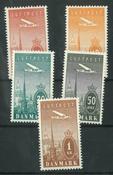 Danmark - AFA 216-220 postfrisk sæt