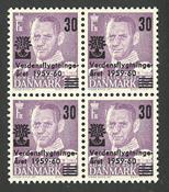 Danmark - AFA 380x postfrisk i 4-blok