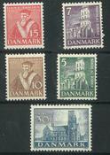 Danmark - AFA 229-233 ubrugt