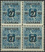 Danemark - AFA 86x en bloc de 4