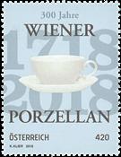Autriche - Porcelaine de Vienne, surface brillante - Timbre neuf
