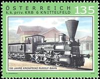 Østrig - KRB & Knittelfeld toget - Postfrisk frimærke