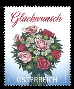 Østrig - Blomsterbuket - Postfrisk frimærke