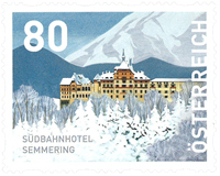 Østrig - Südbahnhotel - Postfrisk frimærke