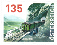 Østrig - Mittenwald banen - Postfrisk frimærke