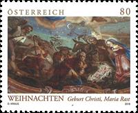 Autriche - Tableau de Noël - Timbre neuf