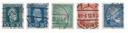 Empire Allemand - 1924 - Michel 368/369 + 372/374,  oblitéré