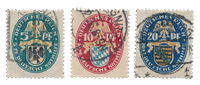 Empire Allemand - 1925 - Michel 375/377, oblitéré