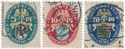 Empire Allemand - 1925 - Michel 375/377, oblitéré