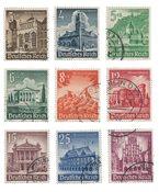 Empire Allemand - 1940 - Michel 751/759, oblitéré