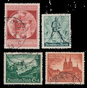 Tyske Rige - 1940 - Michel 744/745 en 748/749 - Stemplet