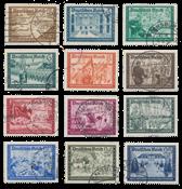 Tyske Rige - 1939 - Michel 702/713 - Stemplet