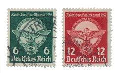 Empire Allemand - 1939 - Michel 689/690, oblitéré