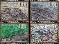 Îles Fidji - Reptiles - Série neuve 4v