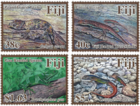 Fiji - Reptiler - Postfrisk sæt 4v
