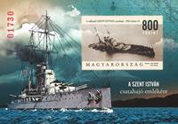 Ungarn - Krigsskib St.Istvan - Postfrisk utakket miniark