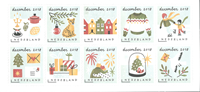 Netherlands - December stamps - Mint souvenir sheet