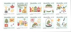 Netherlands - December stamps - Mint souvenir sheet
