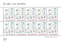 Holland - Decemberfrimærker - Postfrisk 10-ark