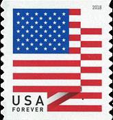 Etats-Unis - Timbre adhésif drapeau - Timbre neuf adhésif