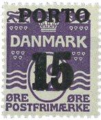 Danmark - AFA 32 portomærke postfrisk