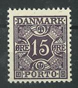 Danmark - AFA 36a portomærke postfrisk