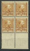 Danmark - AFA 5 i postfrisk 4-blok