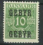Danmark - AFA 1 gebyrmærke postfrisk