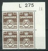 Danmark - 4-blok postfrisk AFA L275
