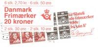Danmark - 20 kr frimærkehæfte - AFA1 - stemplet