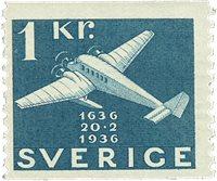 Suède Facit 257 1936 la poste 300 ans