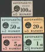 Finland - Buspakke sæt, stemplet