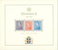 Islande - Chr. X bloc-feuillet