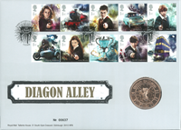 Great Britain - Potter Diagon Alley - PNC / Coin Cover