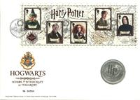 Gran Bretaña - Potter, Hogwarts - Sobre filat. numismático