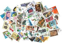 Monde Entier - Paquet de 100 timbres commémoratifs  différents