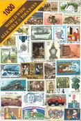 Monde Entier - Paquet de 1000 timbres en boîte