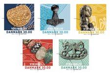 Danmark - Vikingeliv - Postfrisk 5-stribe