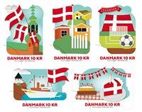 Danmark - Dannebrog 800 år - Postfrisk 5-stribe