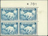 Grønland - AFA 27 postfrisk fireblok