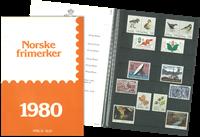 Norge - Årsmappe 1980, postfrisk