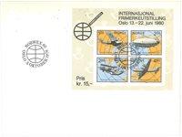 Norge - FDC med 4-blok/miniark Norwex 1980